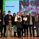 No Child Left Behind awards ceremony at Cheltenham Town Hall.   Eating Well Award presented by Martin Surl (Police & Crime Commissioner) to The Rock, Cheltenham