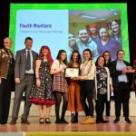 No Child Left Behind awards ceremony at Cheltenham Town Hall.    Confident Girls Award presented by Councillor Flo Clucas and Tim Atkins (CBC) to youth Mentors, Cheltenham Borough Homes