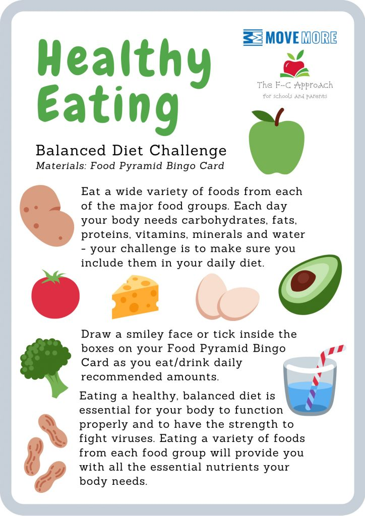 Healthy eating card from Move More