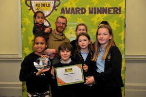 No Child Left Behind awards ceremony at Cheltenham Town Hall.  Ambitious CareersAward presented by Belinda  Wilson (Glos Jobs) & Kevan Blackadder (Chelt BID) to Cornerstones Centre at St Michael's Church