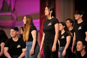 No Child Left Behind awards ceremony at Cheltenham Town Hall.  BETEC Performing Arts Students from Stagedoors in association with the Everyman